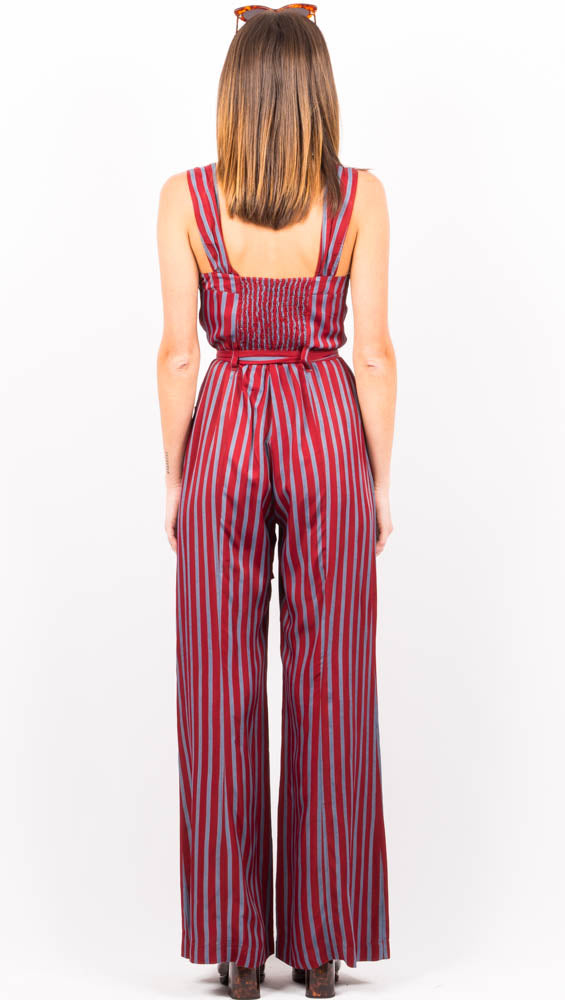 City Girl Jumpsuit - Wine