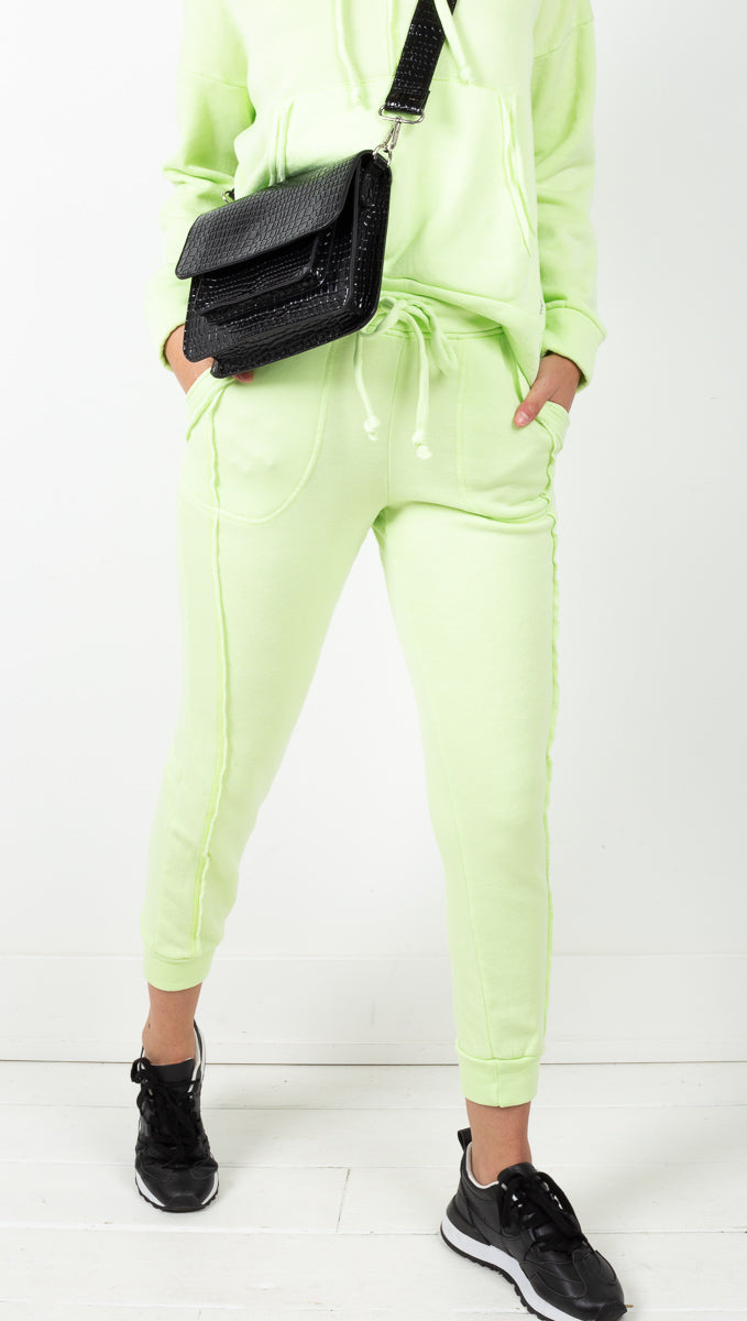 Free People Neon Green High Rise Jogger