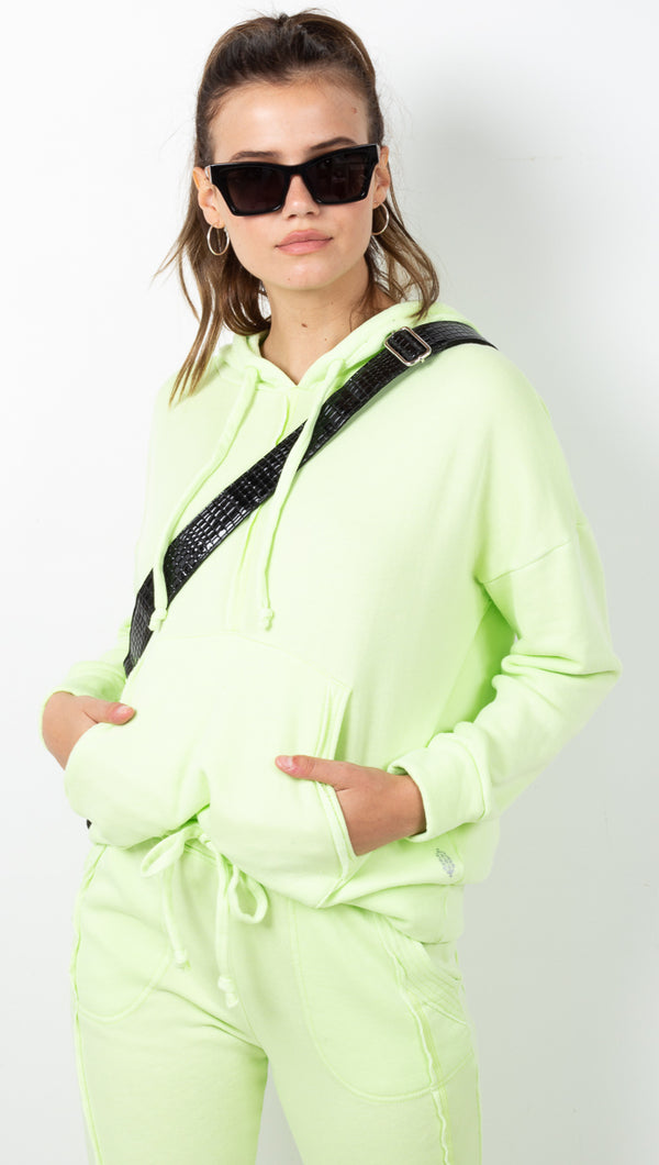 Work It Out Hoodie - Lime