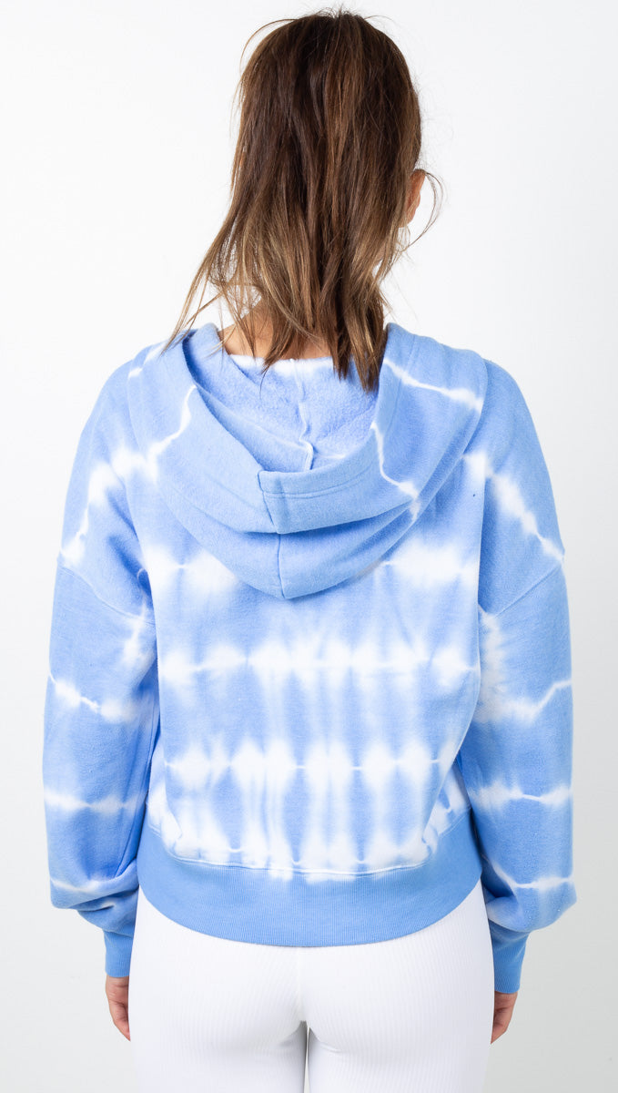 Tie Dye Believer Sweatshirt - Blue