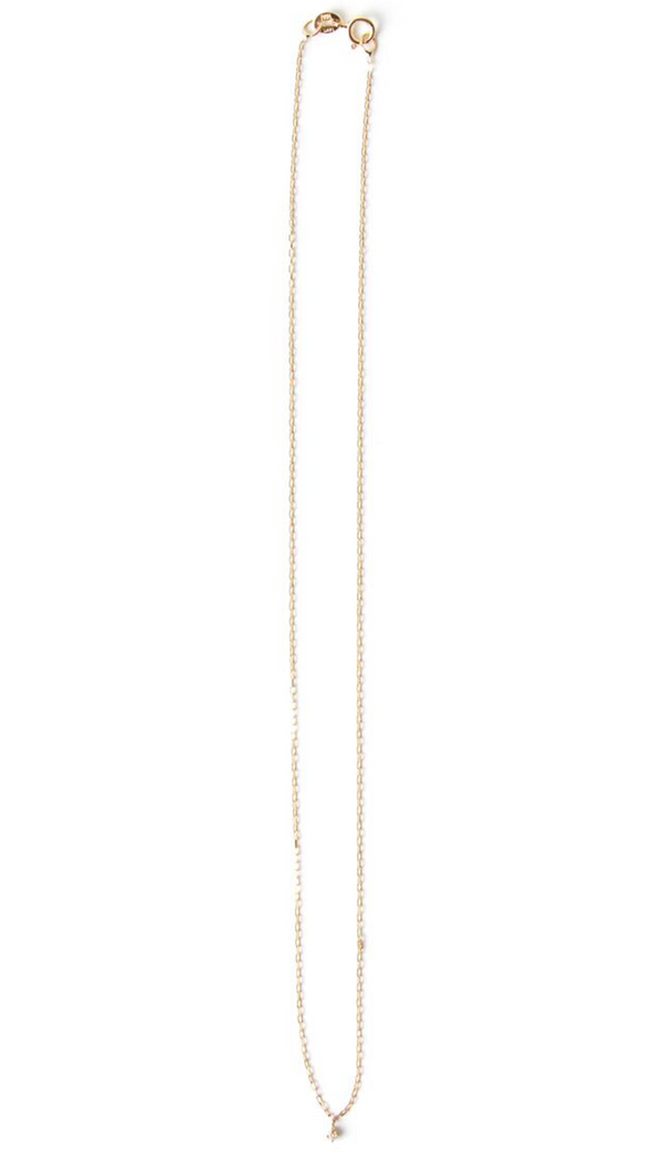 14k Everyday Dia Necklace - 16""