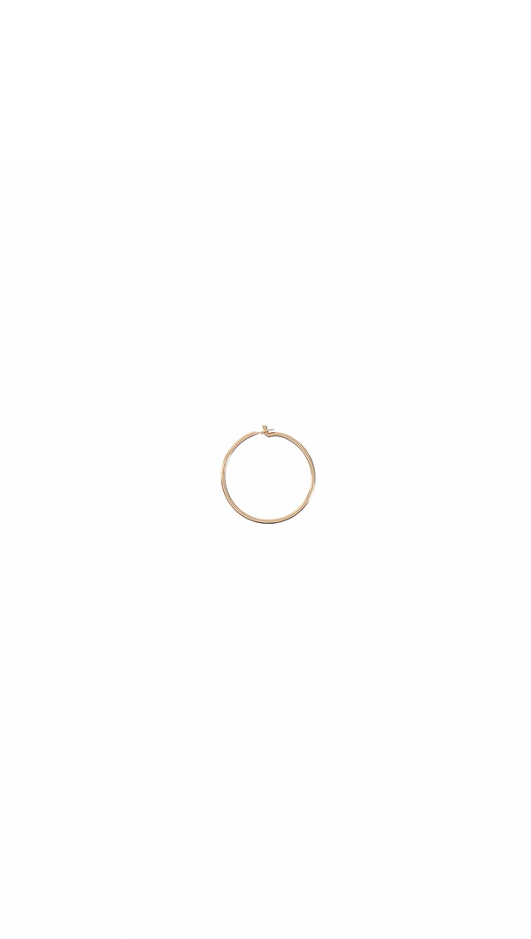 14k Mini Gold Hoop Earring