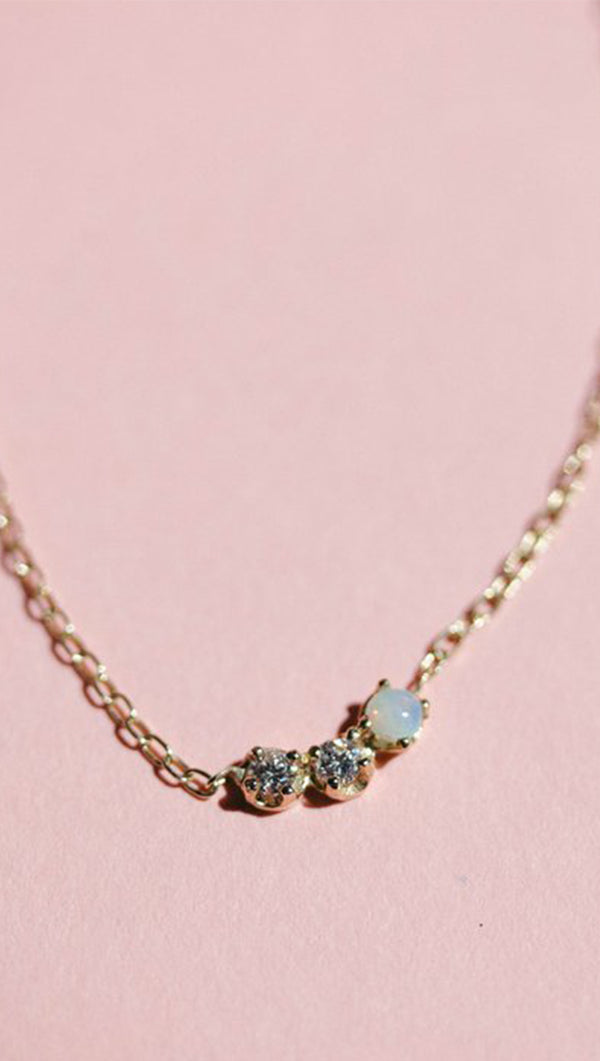 Sister Opal Necklace - 16""