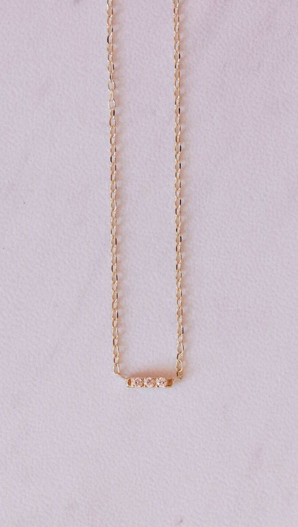 14k Tic Tac Necklace - More Sizes