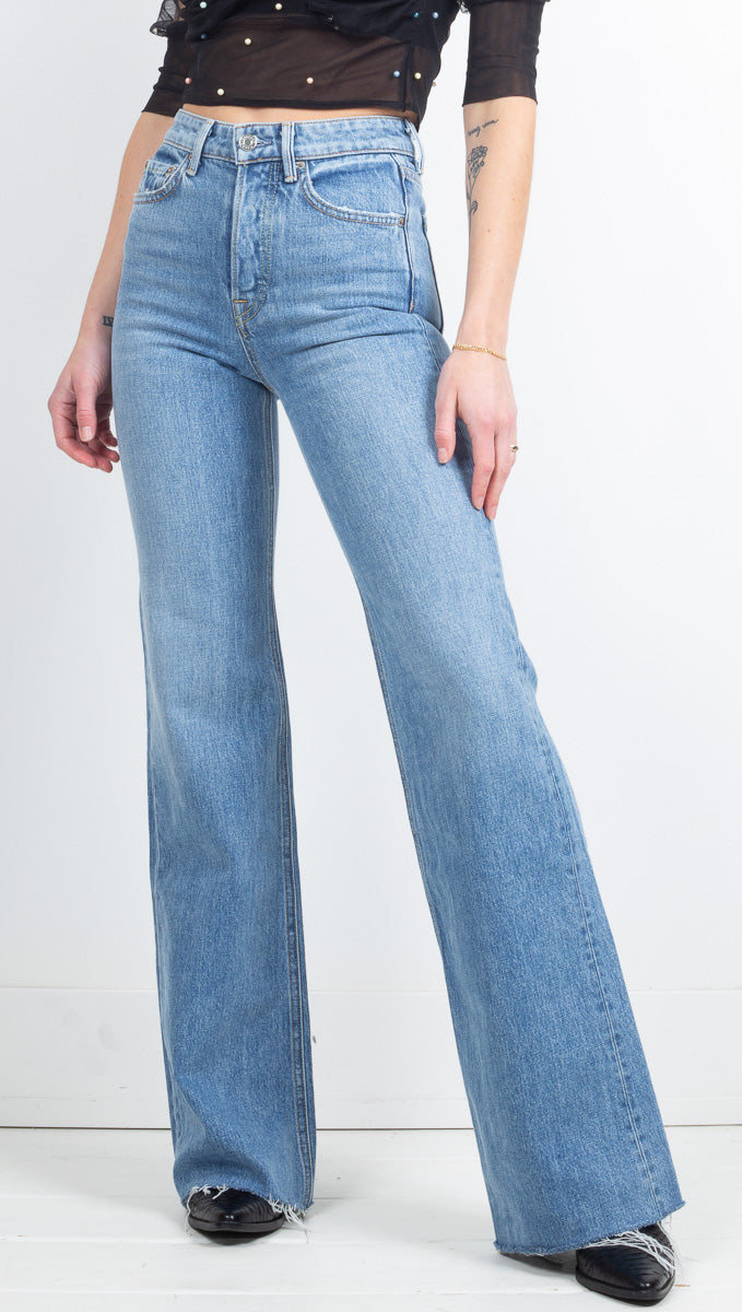 GRLFRND High Waisted Flare Jeans
