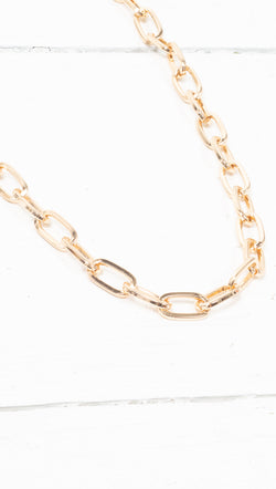 étoile Gold Plated Chunky Link Necklace