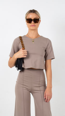 Short Sleeve Shirt - Mocha