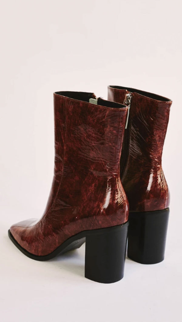 Bold Ankle Boot - Chocolate