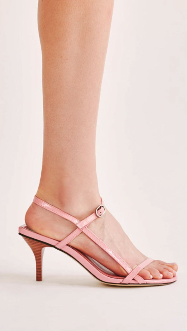 Strappy Patent Sandal - Candy Pink
