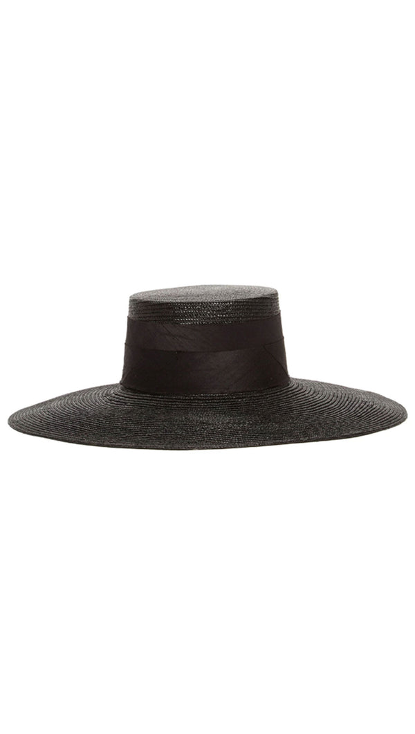 Janessa Leone black straw hat