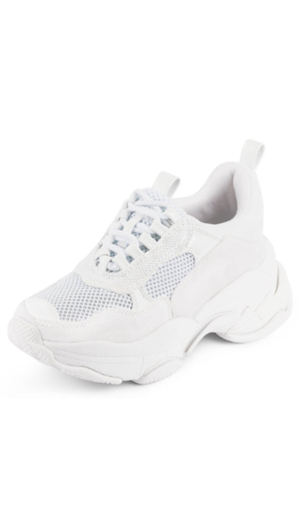 Jeffrey Campbell Off White Mesh Chunky Sneakers
