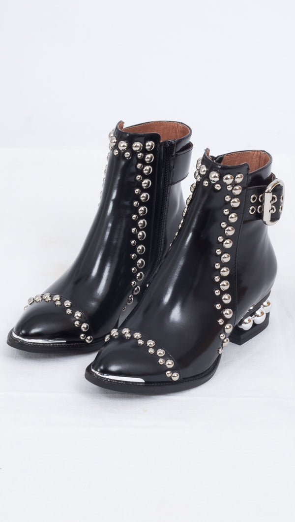 Jeffrey Campbell Black Studded Boots