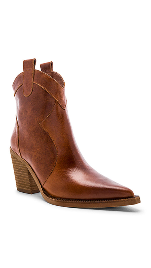 Jeffrey Campbell Brown Leather Western Style Boot