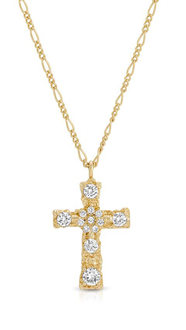 Luxe Antiquity Cross Necklace