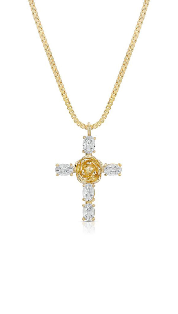 Rosa Cross Pendant