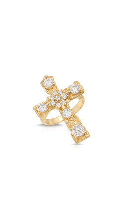Luxe Antiquity Cross Ring