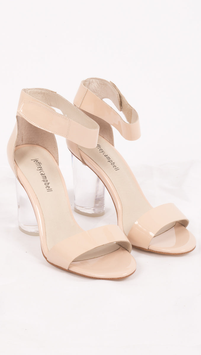 Jeffrey Campbell Nude Patent Leather Heels