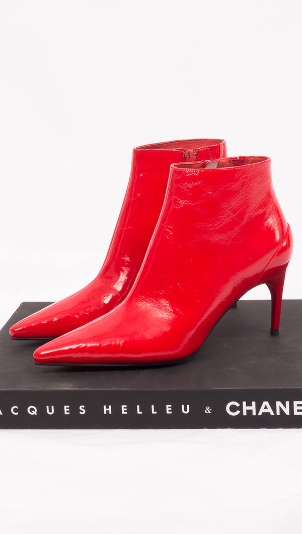 Red Patent Leather Boots