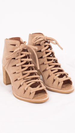 Jeffrey Campbell Nude Lace Up Heels