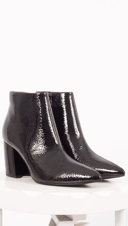 Jeffrey Campbell Black Patent Leather Boots