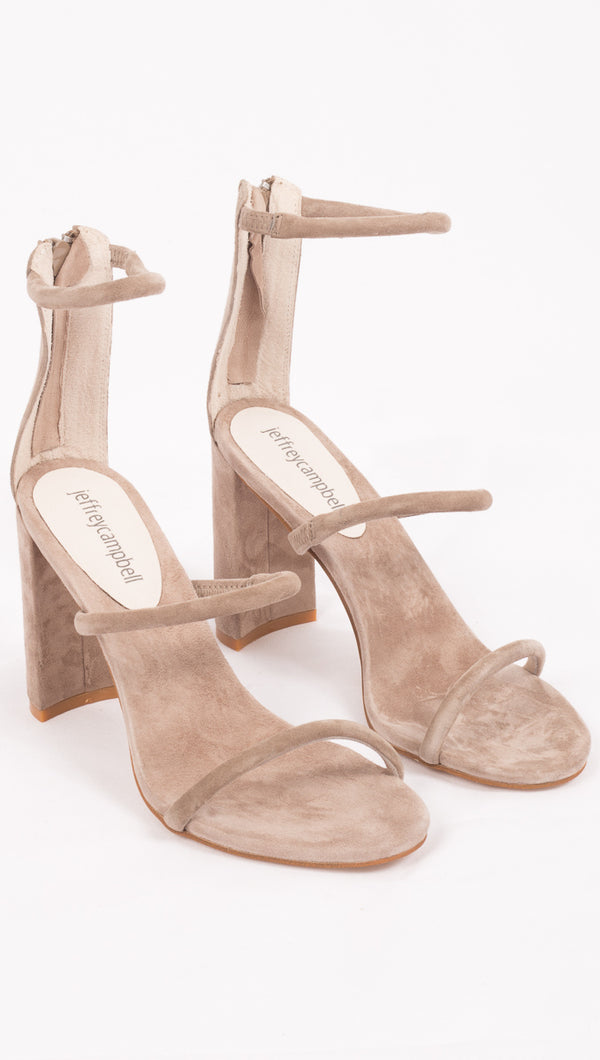 Jeffrey Campbell Taupe Suede Heels
