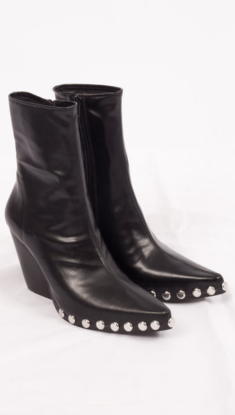 Jeffrey Black Boots with Studded Details