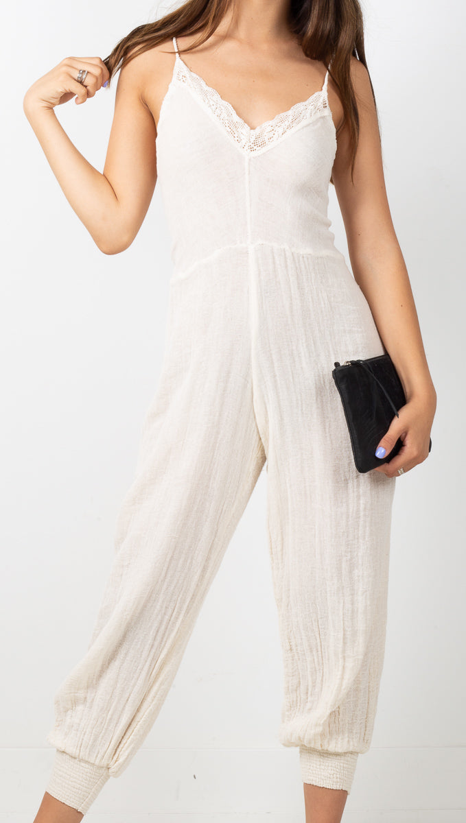 Ash Jumpsuit - Natural Gauze