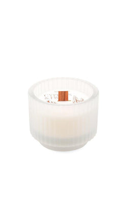 Cypress & Fir 5 oz Candle - Frosted White Ribbed Glass