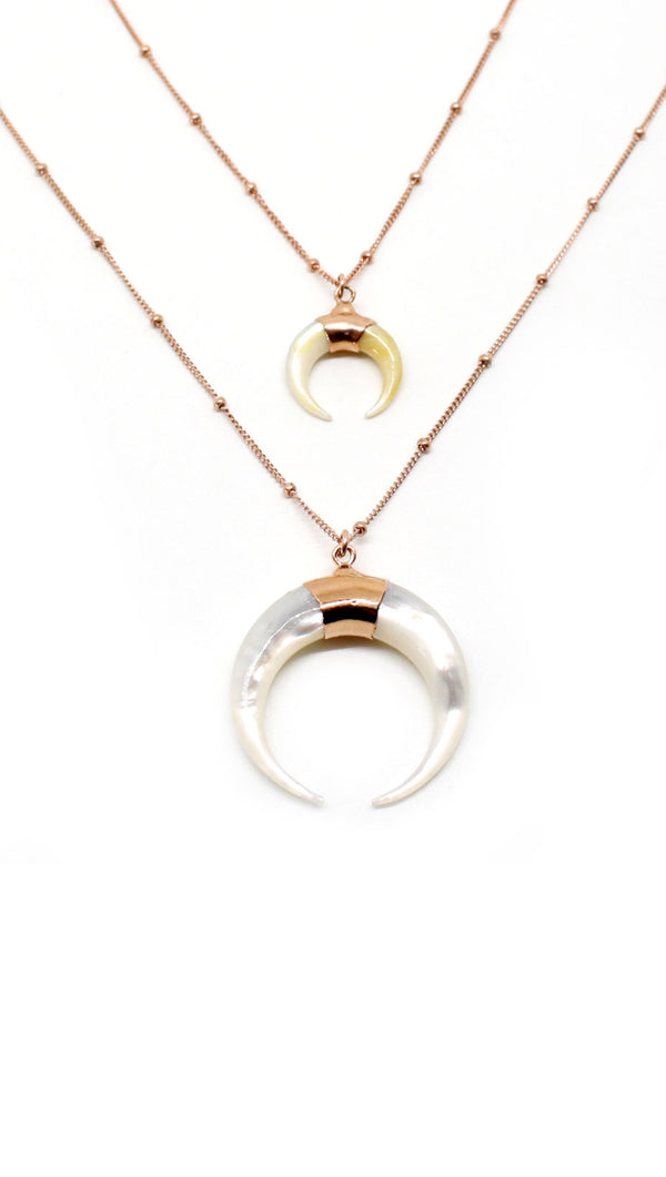 Horn Necklace - Rose