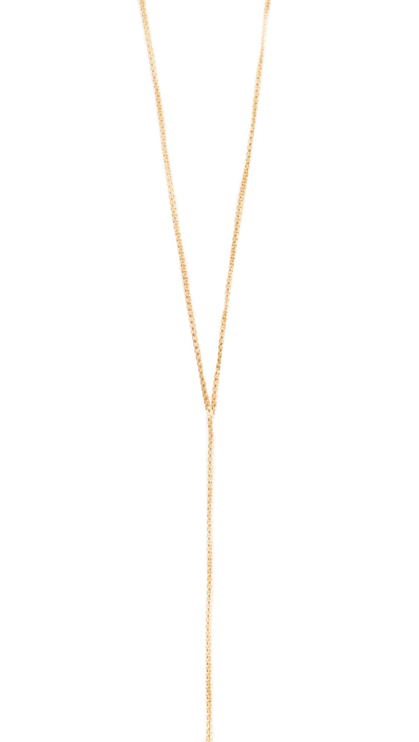 JNB Gold Lariat Necklace