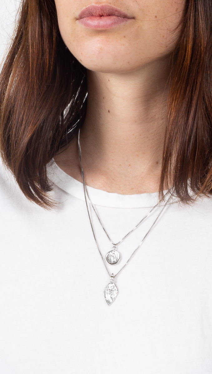 Fortune Layered Necklace - Silver