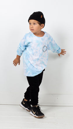 Van De Vort See The Light Kids Long Sleeve Tie Dye Blue