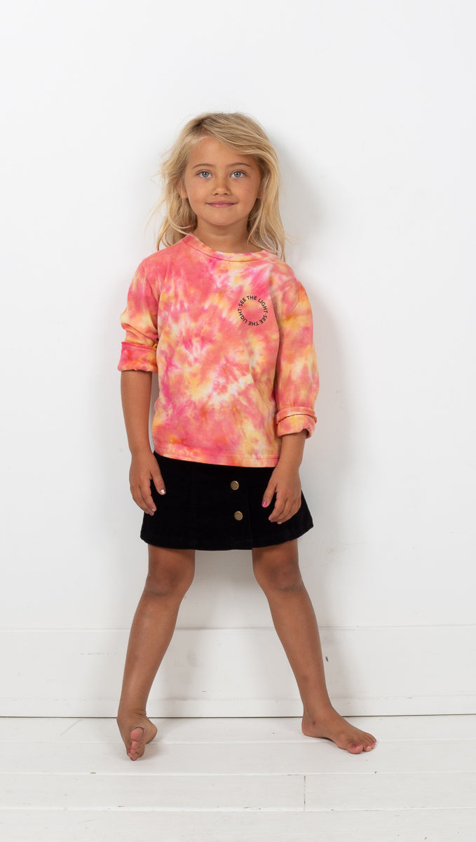 Van De Vort See The Light Kids Long Sleeve Tie Dye