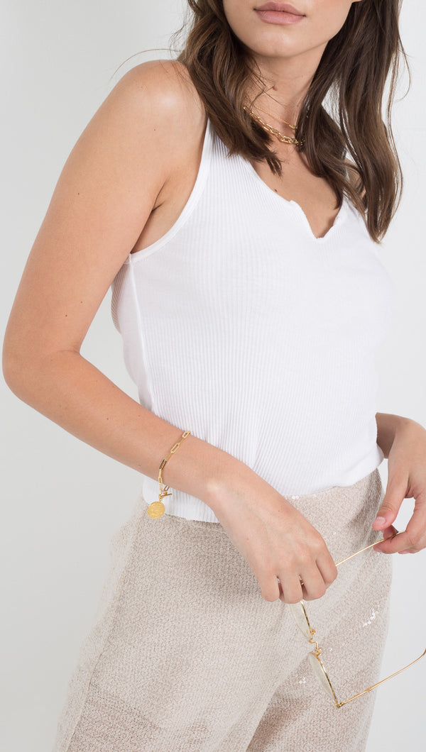Roxy Tank - White Wash