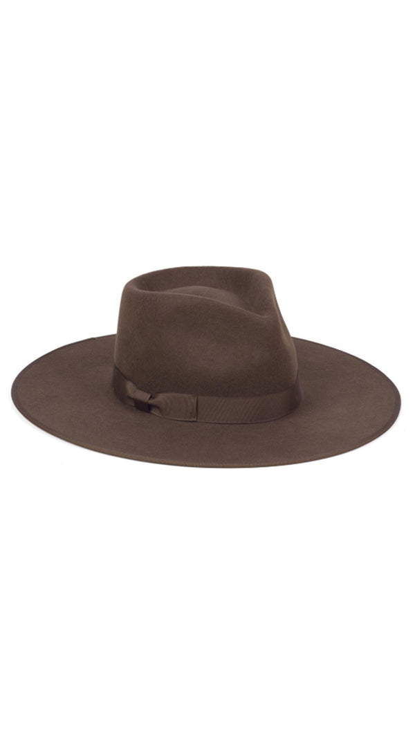 Lack Of Color Brown Wool Fedora