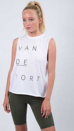 The Laundry Room White Van De Vort Muscle Tank