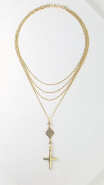 The Eclipse Cross Necklace - Gold