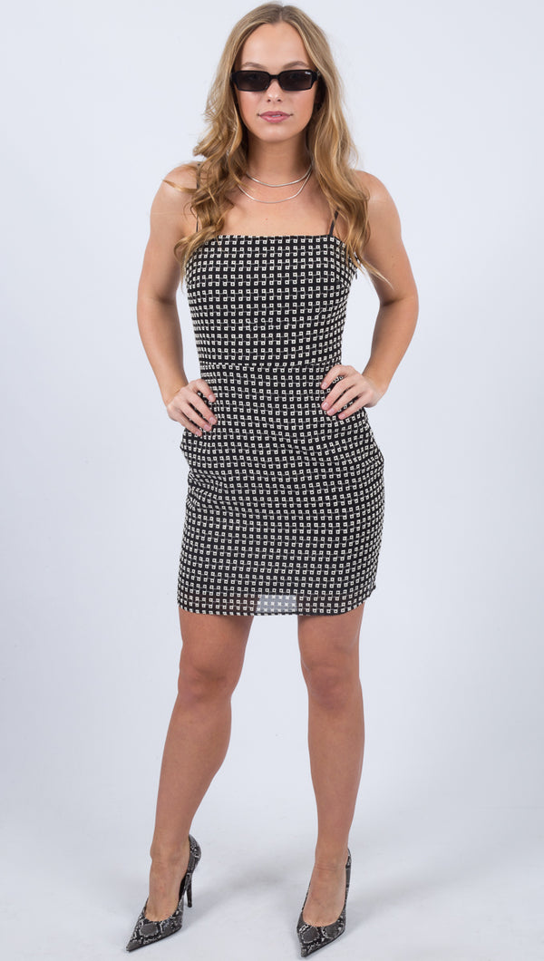 Brielle Mini Dress - Check