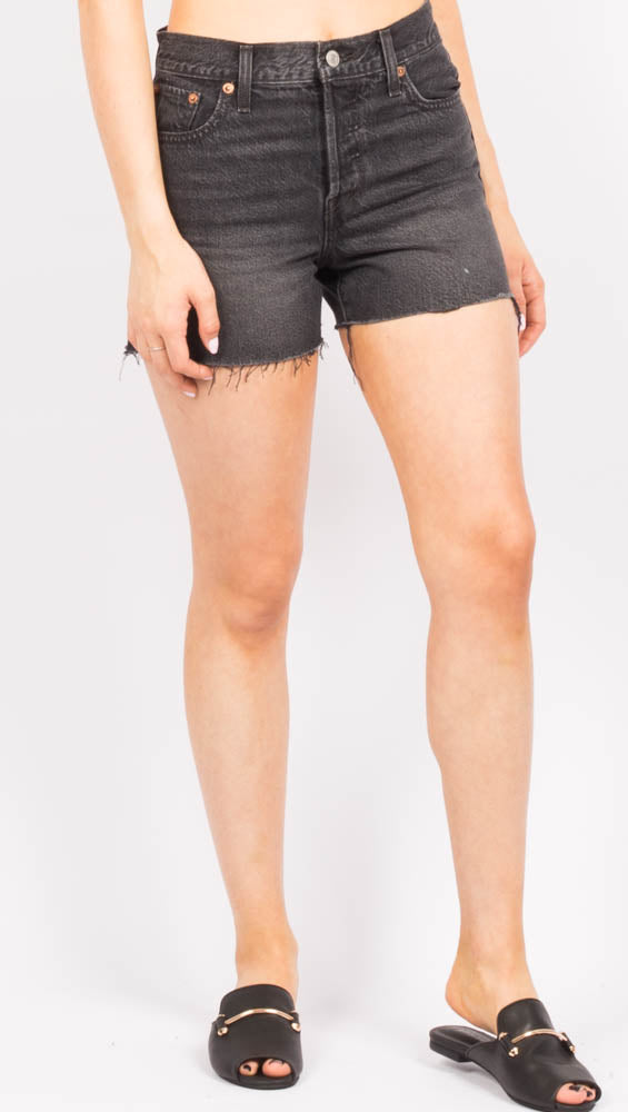 High Waist Black Cut Off Shorts