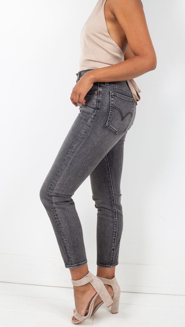 Levi's Washed Black High Rise Skinny Jean