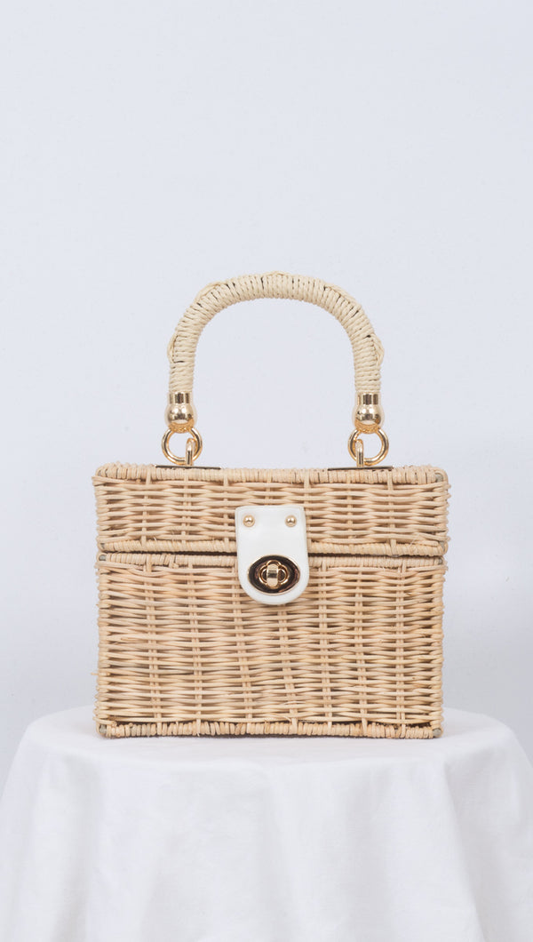 Lily Mini Basket Bag -  Natural