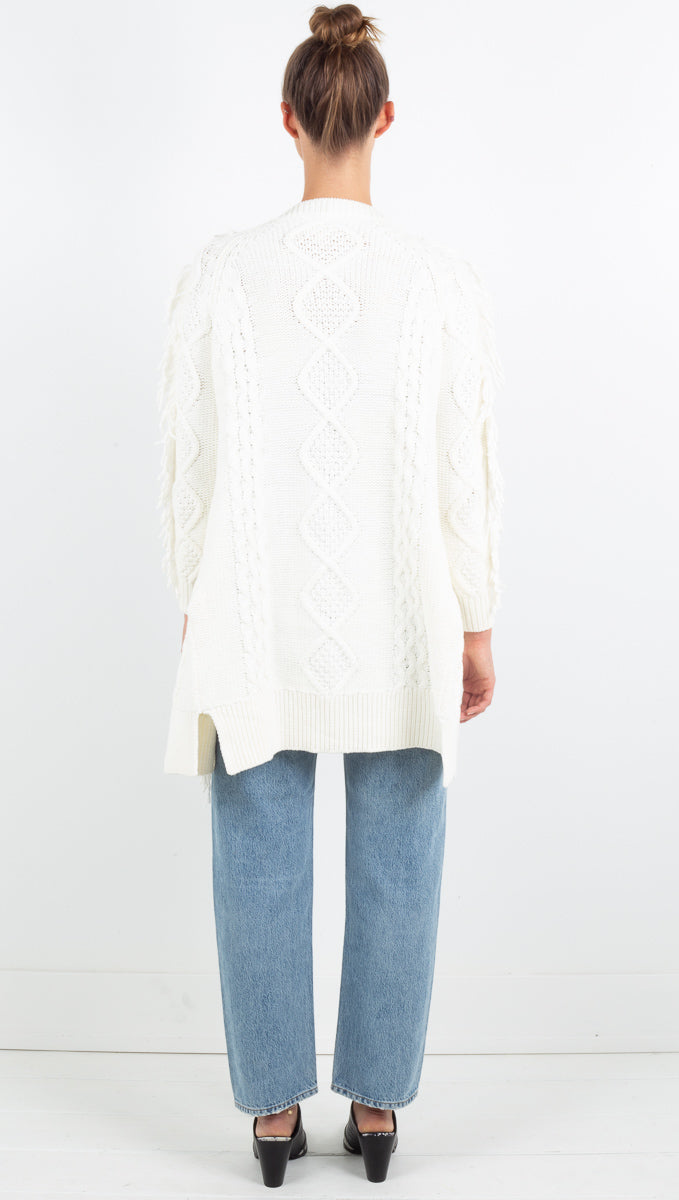Everly Sweater Cardigan - Cream