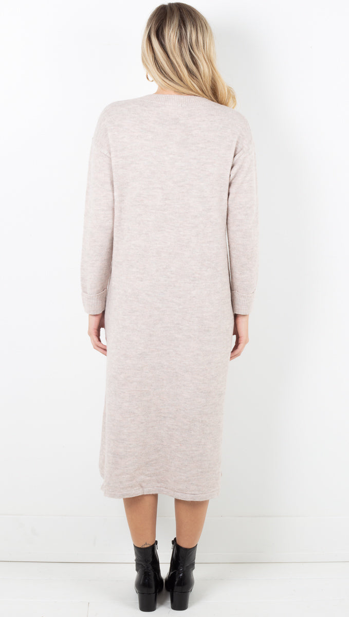 Calli Sweater Dress - Taupe