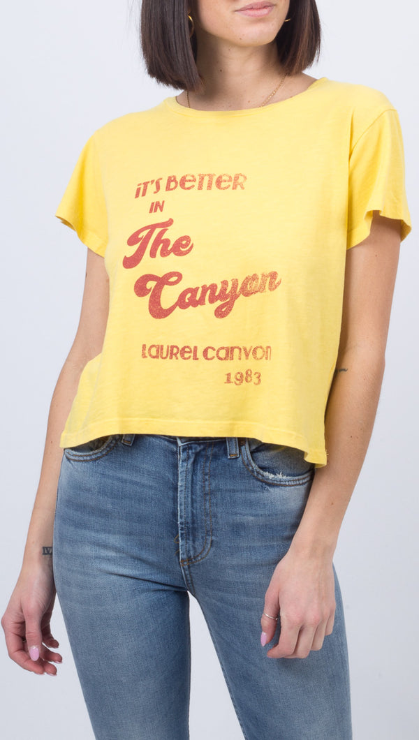 Laurel Canyon Tee - Cream Gold