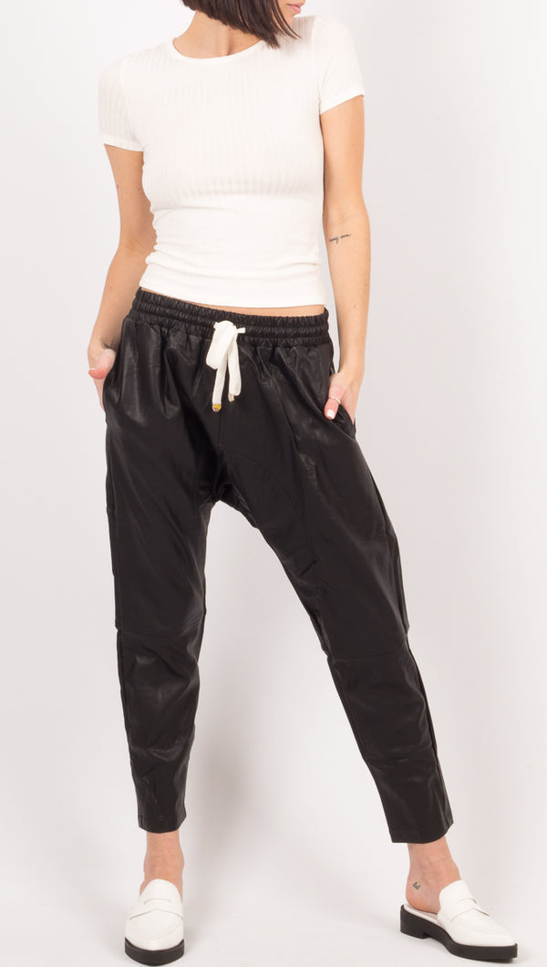 Becca Drop Crotch Pants - Black