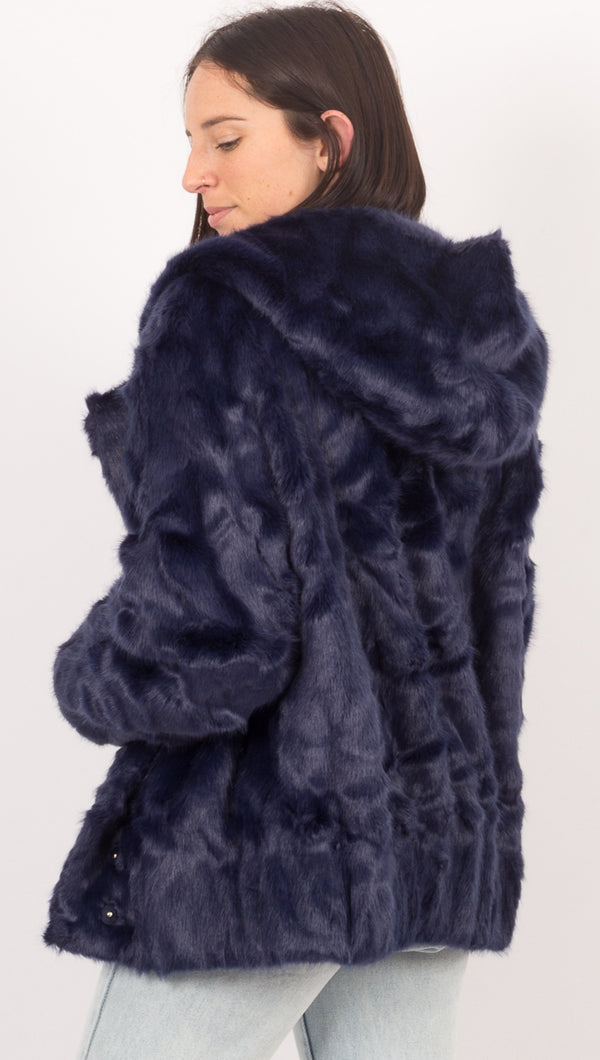Dakota Fur Jacket - Navy