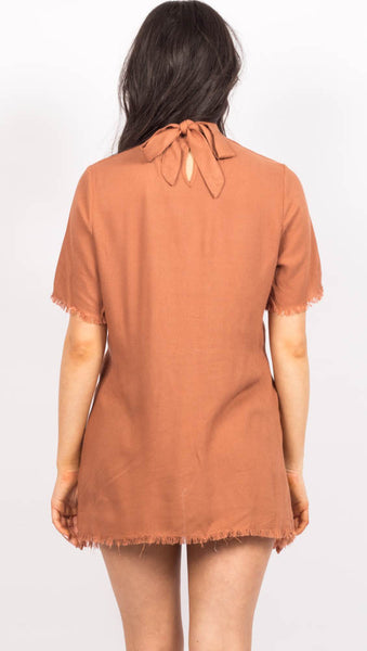 Santana Twist Top - Terracotta