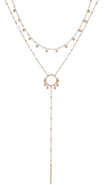 LUV AJ Gold Lariat Necklace