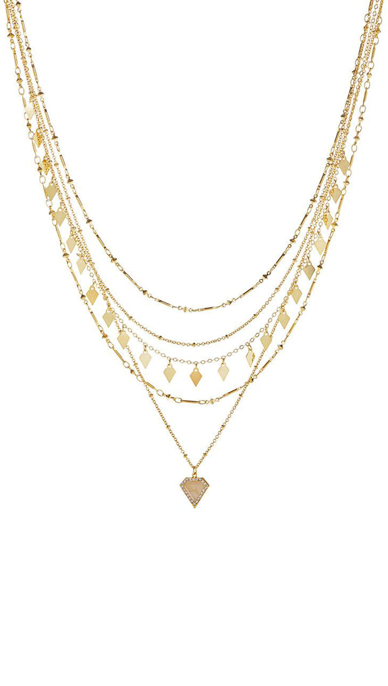 LUV AJ Gold Layered Necklace