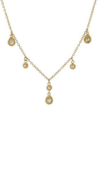 The Moroccan Dangle Charm Necklace - Gold